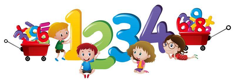 Imparare a contare ecco tre libri sui numeri per i - Colore per numeri per i bambini ...