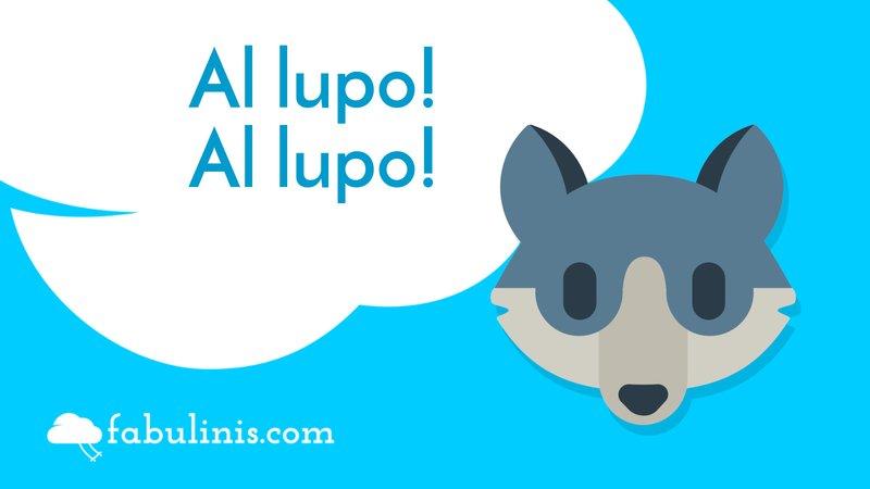 """cover della favola di Esopo """"al lupo al lupo!"""""""