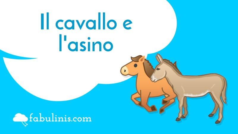 """cover della favola di Esopo """"il cavallo e l'asino"""""""