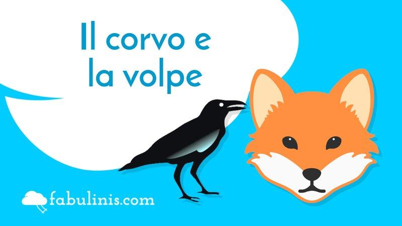 """cover della favola di Esopo """"il corvo e la volpe"""""""