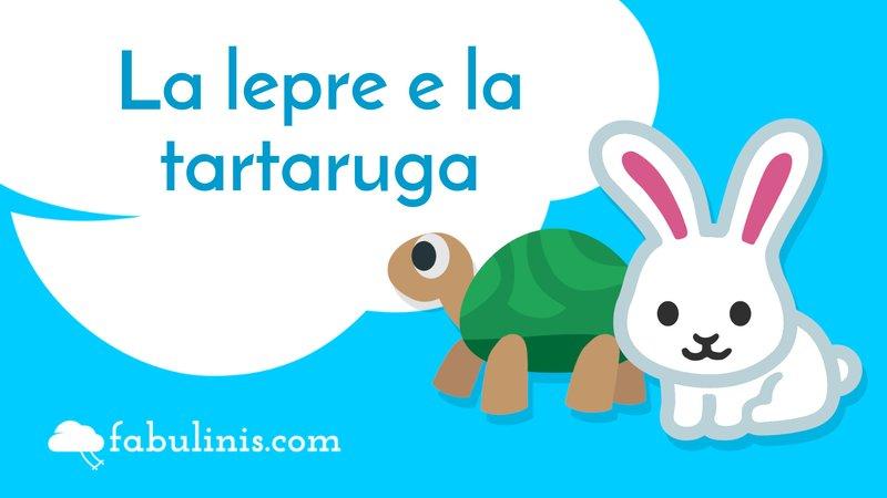 """cover della favola di Esopo """"la lepre e la tartaruga"""""""