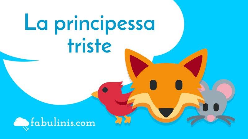 """cover della favola per bambini """"la principessa triste"""""""