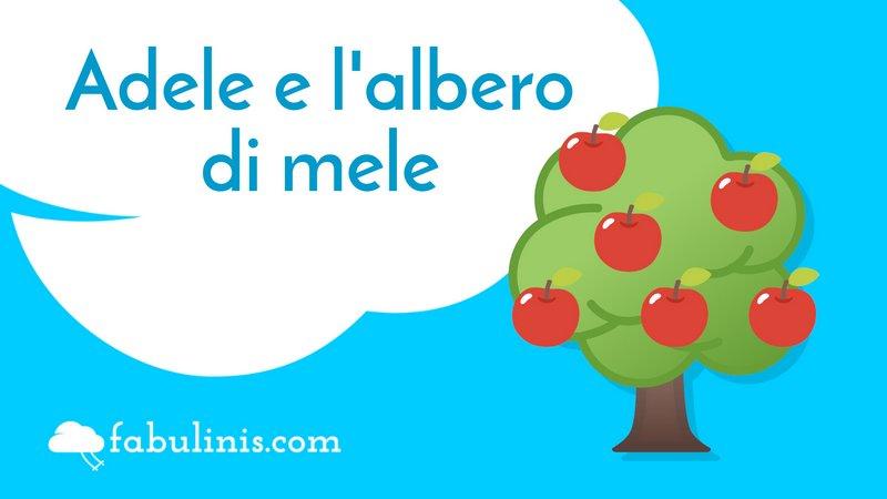 """cover della favola per bambini """"Adele e l'albero di mele"""""""