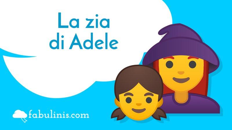 """cover della favola per bambini """"la zia di Adele"""""""