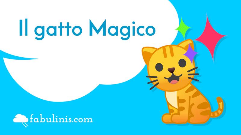 """cover della favola per bambini """"il gatto Magico)"""