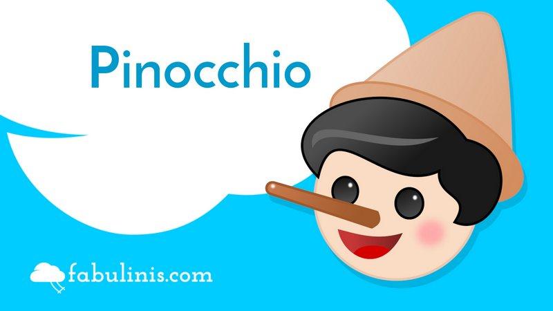 """cover della storia per bambini """"Pinocchio"""""""